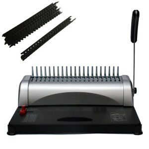 21 Hole 450 Sheets Paper Comb Punch Binder Binding Machine Scrapbook W 200 Combs