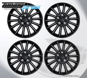 Matte Black 15 Inches 007 Pop On Hubcap Wheel Rim Skin Covers 15 Inch 4pcs