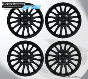 Matte Black 15 Inches 611 Pop On Hubcap Wheel Rim Skin Covers 15 Inch 4pcs
