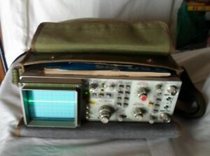 Leader Model Lbo 325 Oscilloscope 60mhz Manual Probes Carrying Case Good Cond