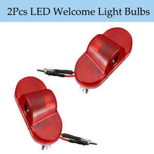 2pcs Car Door Courtesy Laser Led Light Logo Bulbs Ghost Welcome Lamp For Skoda