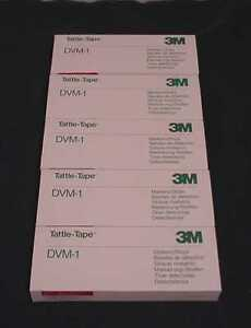 Lot Of 1000 Of 3m Tattle Tape Dvm 1 Video Cassette Security Strip 75 0299 6388 3