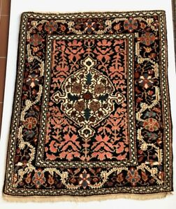24x30 Persian Sarouk Genuine Antique Handmade Wool Woven Rug Early 20th C 2 2