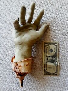 Antique Fair Carnival Figure Large Hand Horror Prop Display With Ring