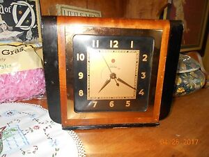 Telechron Vintage Electric Clock Model 4f73 Red Dot Working 6 3 4 X 8