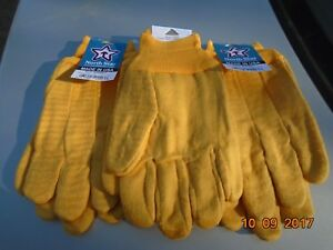 Brawny Chore Work Gloves 3 Pair Large Farmers Firewood Made In The Usa