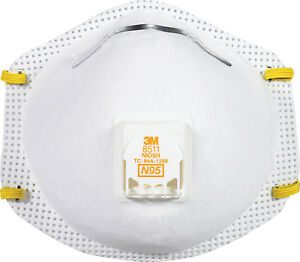 3m D particulate Respirator Face Mask With Valve White 10 Pack