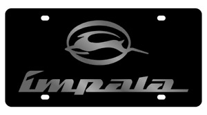 Chevrolet Impala Genuine Carbon Stainless Steel 3d Logo Finish License Plate