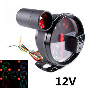 5 Stepper Motor Car Rpm 11000k Tachometer Gauge 7color Backlight Led Shift Light