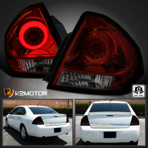 Red Smoke 2006 2013 Chevy Impala Led Driving Brake Tail Lights Left Right