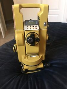 Topcon Gts 2b Semi Total Station Theodolite Surveying Equipment W Bt 5q Battery