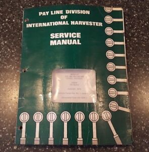 International Construction Equipment Engine Service Manual Iss 1524 2 1975