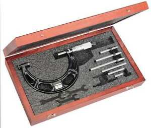 Interchangeable Anvil Micrometer 0 To 4 Starrett 224aarlz