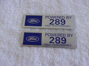 Ford Powered By 289 Hi Performance Valve Cover Decals Pair Ford Lincoln Mercury