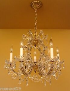 Vintage Lighting Maria Theresa Style Crystal Chandelier Large 21 Wide