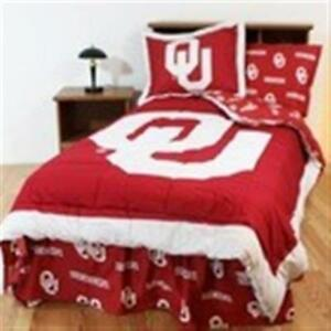 Comfy Feet Oklbbkg Oklahoma Bed In A Bag King With Team Colored Sheets