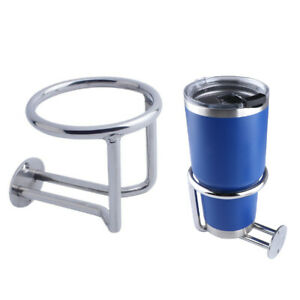 Boat Ring Cup Holder Stainless Steel Ringlike Drink Holder For Marine Yacht