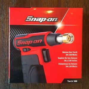 Snap on Tools Torch 300 Butane Gas Torch 50 220 Watts Red And Black