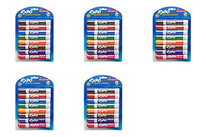 Expo 80678 Low odor Dry Erase Markers Chisel Tip Assorted Colors pack Of 5