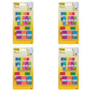 Post it Flags Assorted Color Combo Pack 320 Flags Total 200 1 inch pack Of 4