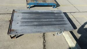 Hamilton Vintage Antique Industrial Factory Railroad Cart Wood Coffee Table