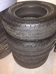 Set Of 4 National Commando Tires Size 255 70r16