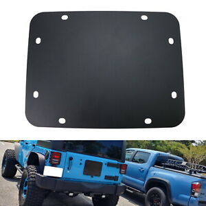 Black Blank Tailgate Spare Tire Carrier Delete Plate For 07 17 Jeep Wrangler Jk