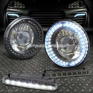 7 h6024 Glass Projector Round Black Led Housing Head Light smoked Drl Fog bulb