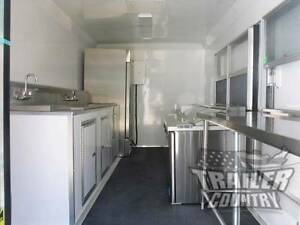 New 8 5 X 16 16 Enclosed Concession Food Vending Bbq Mobile Kitchen Trailer