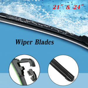 All Season 24 21 Windshield Wiper Blades Bracketless Oem Quality Beam New