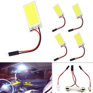 10pcs Panel Led Lamps 12v 36 Cob Car White Light X Xenon Interior Map Hid New