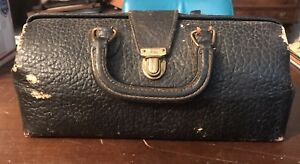 Antique Lilly Black Leather Physician Doctor S Medical Bag