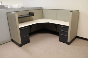Used Office Cubicles Haworth Premise 6x6 Cubicles