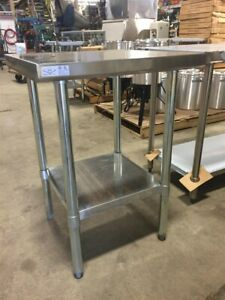 Select Stainless 24x18 Commercial Stainless Steel Table nsf ul Pl 1 5kdwt 24 g