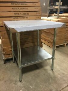 Select Stainless 30x30 Commercial Stainless Steel Table nsf ul Pl 2 5kdwt 30 g