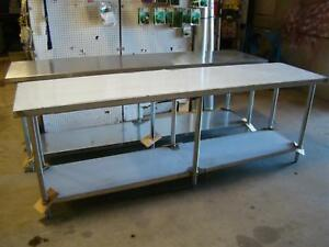Select Stainless 96 X 24 Commercial Stainless Steel Table nsf ul Pl 8kdwt 24 ss