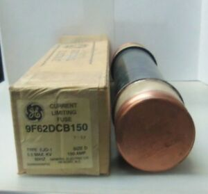 New Ge General Electric 9f26dcb150 150 Amp Fuse 5 5 Max Kv Size D Type Ejo 01 Ni