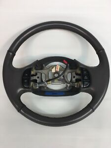 Ford Truck Leather Wrap Steering Wheel F150 F250 97 97 99 00 01 02 03 Gray