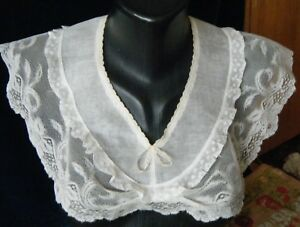 Antique Bertha Shoulders Collar Combo H Made Design Val Laces Organza