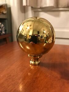 Antique Style Brass Ball Bed Finial 3 Diameter