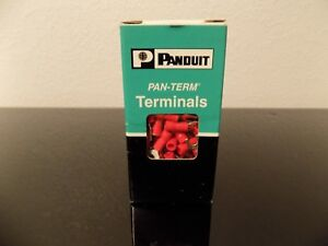Panduit Terminal Forks Wire Joints Pv18 8f c Wire 22 16 Stud 8 Insul Vinyl New