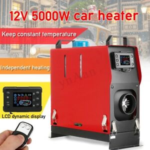 12v 5kw Air Diesel Heater All In One 1 Hole Lcd Monitor For Trucks Boats Bus Car
