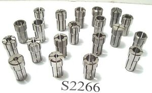 20 Pc Da100 Collet Set Sizes Between 1 8 9 16 Kennametal Others Da 100