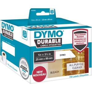 Dymo Lw Durable Industrial Labels For Labelwriter White Poly 1 X 3 5