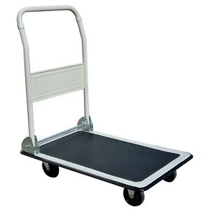 Folding Platform Dolly Hand Truck Flat Bed 19 X 29 Push Cart 330 Lb Capacity
