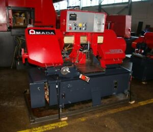 10 X 10 Amada Model Ha250 Fully Automatic Hydraulic Horizontal Band Saw