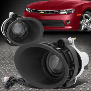 For 2014 2015 Chevy Camaro Ls Lt 3 6l Projector Fog Light W Bezel Cover Seitch