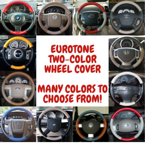 Cadillac Wheelskins Eurotone 2 Color Leather Steering Wheel Cover All Models