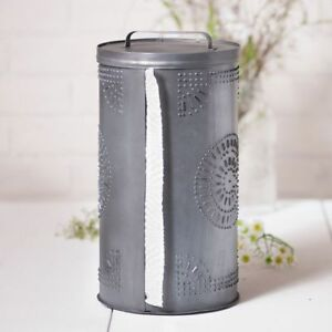 Country New Antique Punched Tin Paper Towel Holder Dispenser