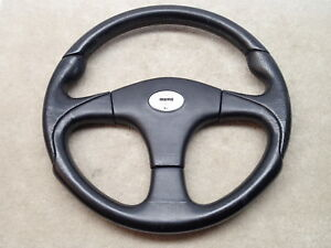Momo Vintage Racing Black Steering Wheel D36 Kba 70101 Made In Italy